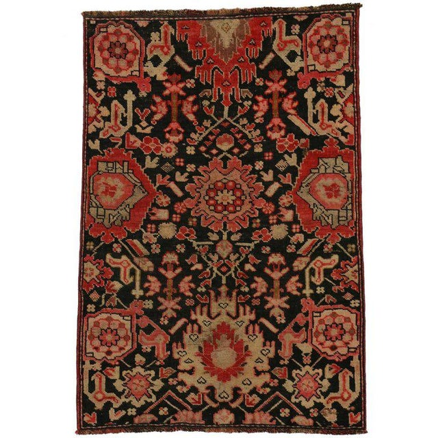 Mid 20th Century Vintage Turkish Oushak Accent Rug 2'10 X 4'1 For Sale - Image 5 of 5
