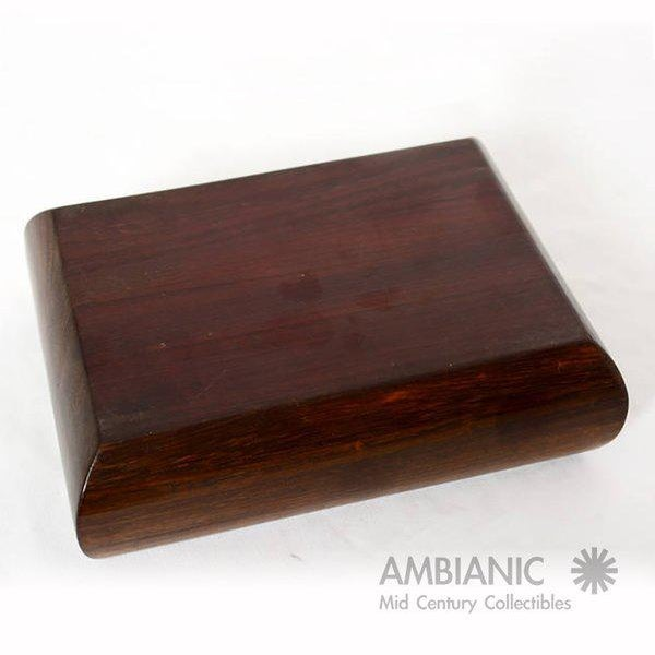 Mahogany With Silver Emblem Jewelry Box For Sale In San Diego - Image 6 of 10