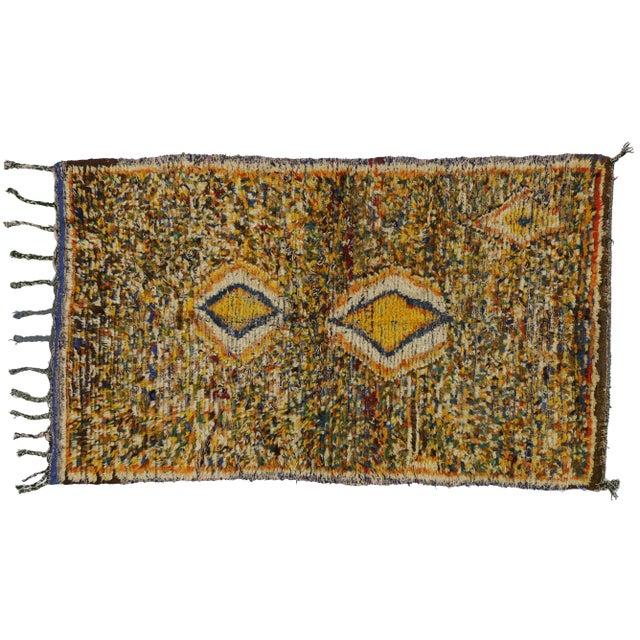 "Vintage Berber Tribal Moroccan Rug - 3'5"" x 5'6"" - Image 1 of 2"