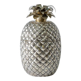 Fabulous Giant Pineapple Silver Box/Ice Bucket Portugal For Sale