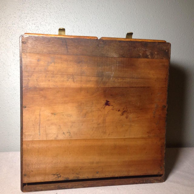 Early Twentieth Century Wooden Library Card Catalog For Sale - Image 10 of 13
