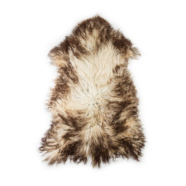 """Contemporary Hand-Tanned Sheepskin Pelt Rug - 2'4""""x4'0"""" For Sale In Chicago - Image 6 of 6"""