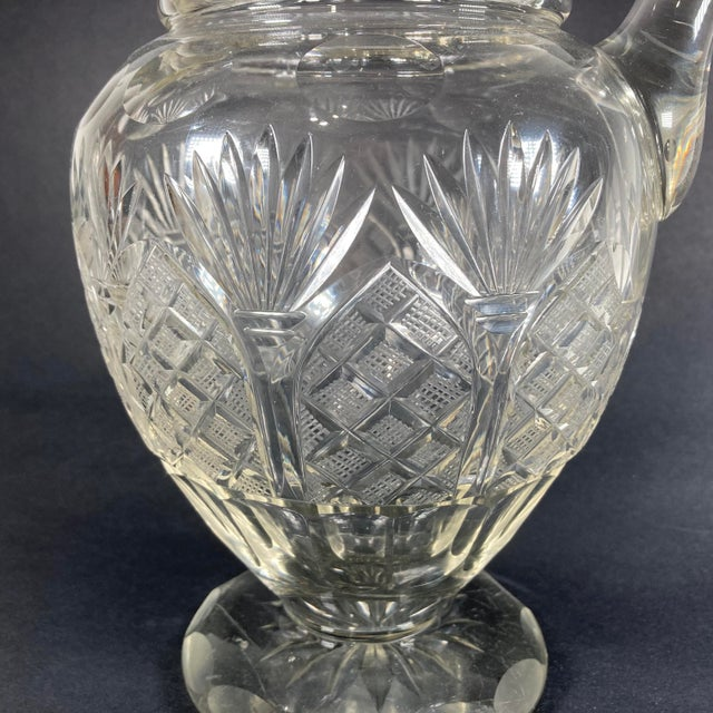 Glass Early 19th Century Georgian Anglo-Irish Cut Crystal Champagne Pitcher For Sale - Image 7 of 8