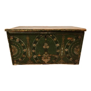 18th Century Painted Blanket Chest For Sale