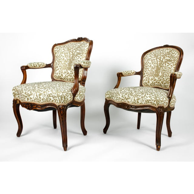 Early 19th Century Early 19th Century Louis XVI Side Armchairs - a Pair For Sale - Image 5 of 13