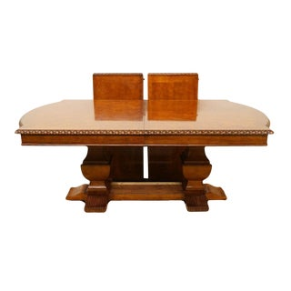 20th Century Traditional Hickory White Legends Collection Pedestal Dining Table For Sale