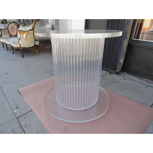 Plastic Column Style Lucite Center Table by Ritts Furniture Company For Sale - Image 7 of 11