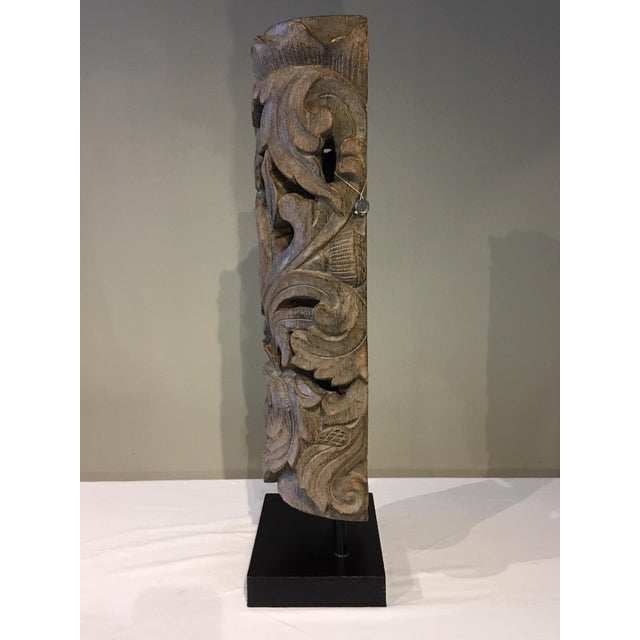 Traditional 1990s Floral Totem Sculpture For Sale - Image 3 of 8