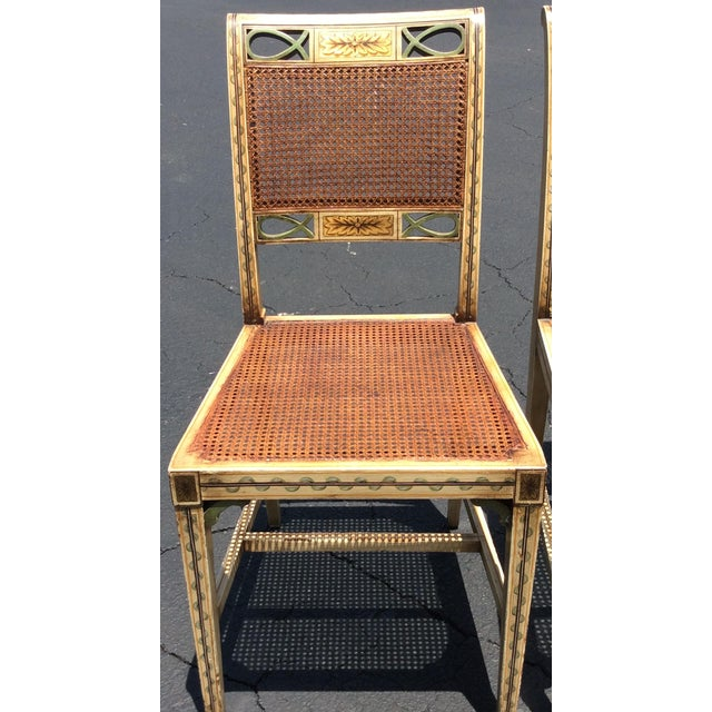 Green 1920s French Country Wicker Dining Chairs - Set of 6 For Sale - Image 8 of 13