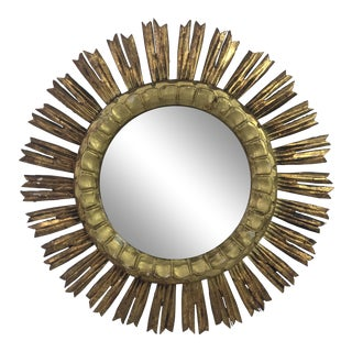 French Gilt Wood Sunburst Mirror