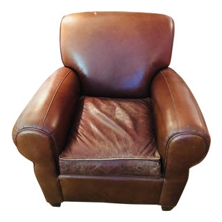 Mitchell Gold for Pottery Barn Manhattan Leather Club Chair