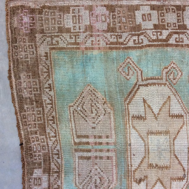 """Blue Vintage Turkish Anatolian Runner Sea Green 7'9""""x3' For Sale - Image 8 of 11"""