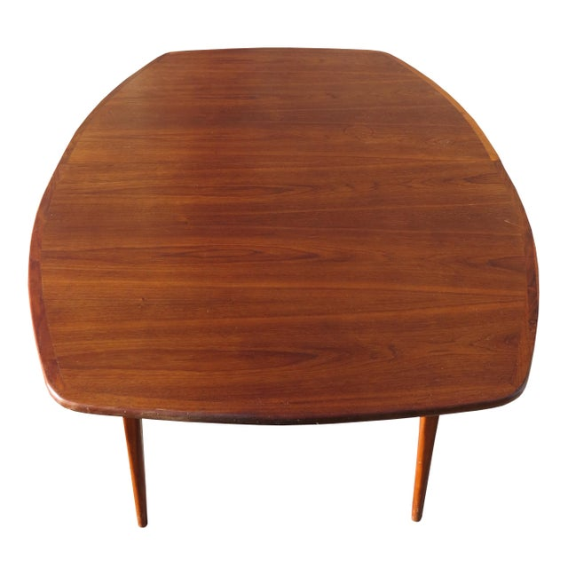 1960s 1970's Danish Modern Walnut Extendable Dining Table For Sale - Image 5 of 13
