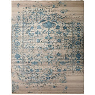 """Erased Hand-Knotted Luxury Rug - 7'10"""" X 10'2"""" For Sale"""