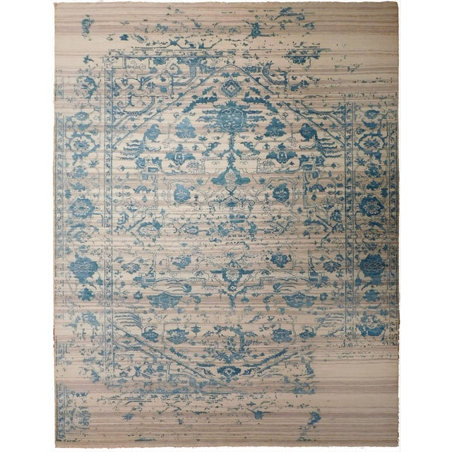 "Erased Hand-Knotted Luxury Rug - 7'10"" X 10'2"" - Image 1 of 10"