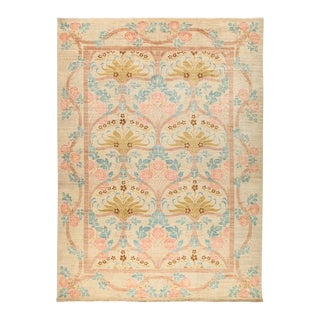 "Arts & Crafts Hand-Knotted Wool Rug - 9'10"" X 13'5"" For Sale"