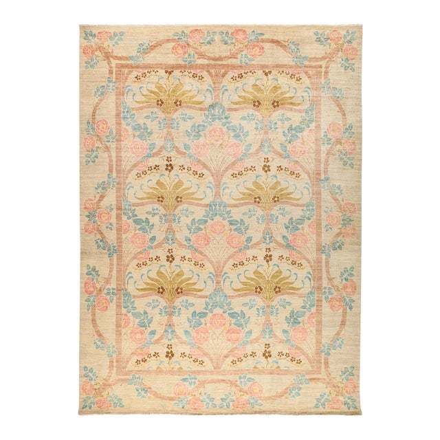 """Arts & Crafts Hand-Knotted Wool Rug - 9'10"""" X 13'5"""" For Sale"""