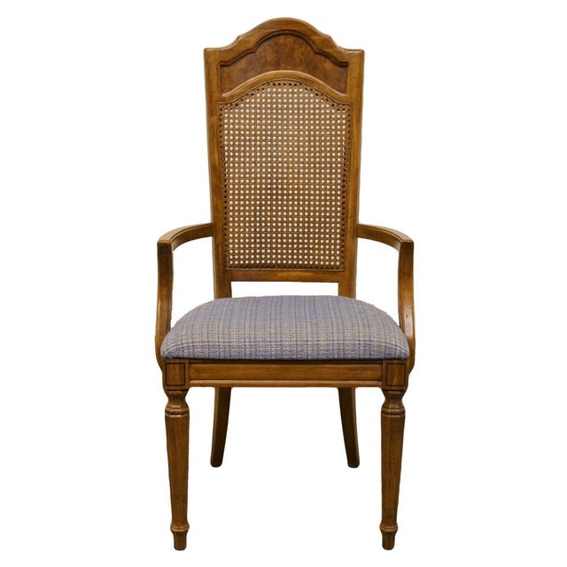 Late 20th Century Vintage Thomasville Furniture Romano Collection Cane Back Dining Chair For Sale - Image 10 of 10