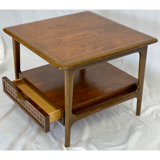 Lane Furniture Vintage Mid Century Modern Lane Perception Side Table / Nightstand For Sale - Image 4 of 11
