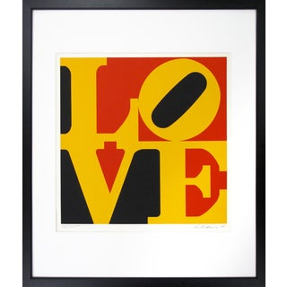 "1960's Pop Art Screen Print ""Love"" by Robert Indiana"
