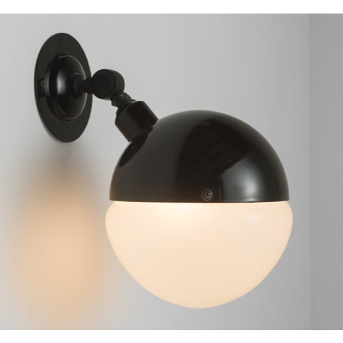 1960s Mid Century Italian Sconce Light Black For Sale - Image 4 of 4