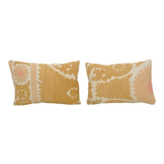 Suzani Pillow Cases Fashioned From a Vintage Suzani - a Pair For Sale
