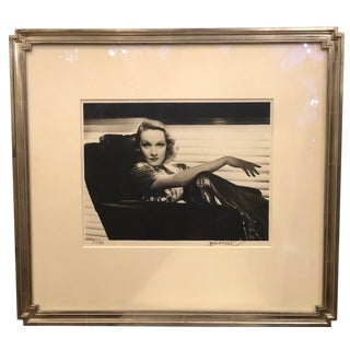 Rare Signed George Hurrell Photograph of Marlene Dietrich For Sale