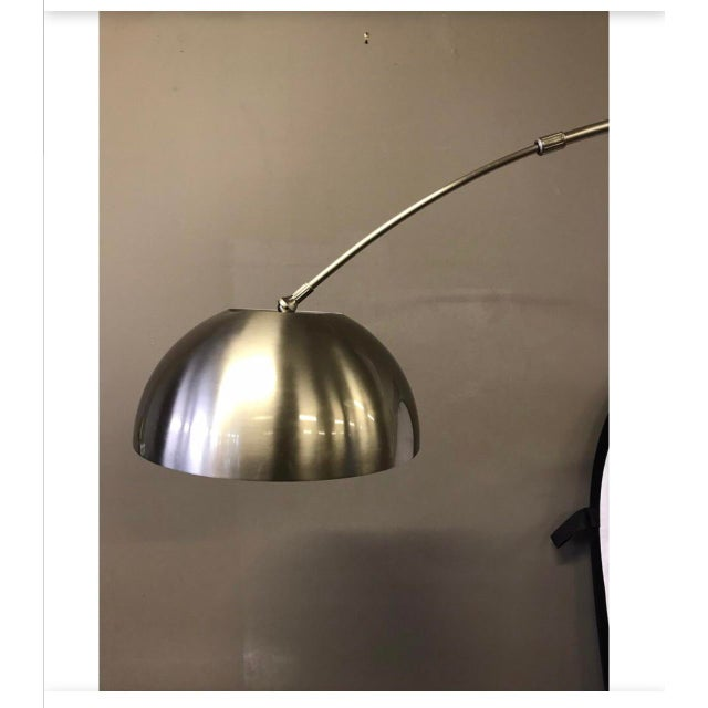 Mid-Century Space Age Chrome Arc Floor Lamp For Sale - Image 4 of 8