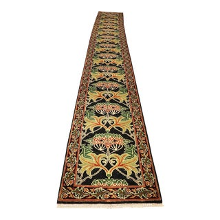 "Long Arts and Crafts Runner - William Morris Style-2'7'x21'8"" For Sale"
