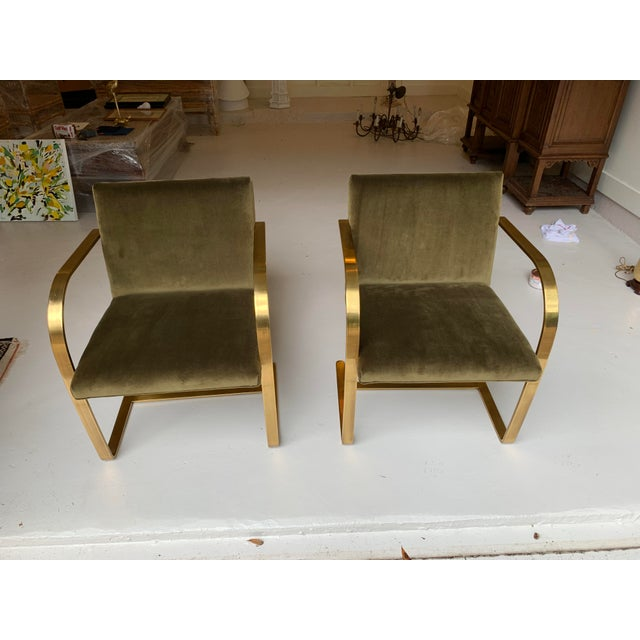 1970s Vintage Brass Brno Chairs- a Pair For Sale - Image 13 of 13