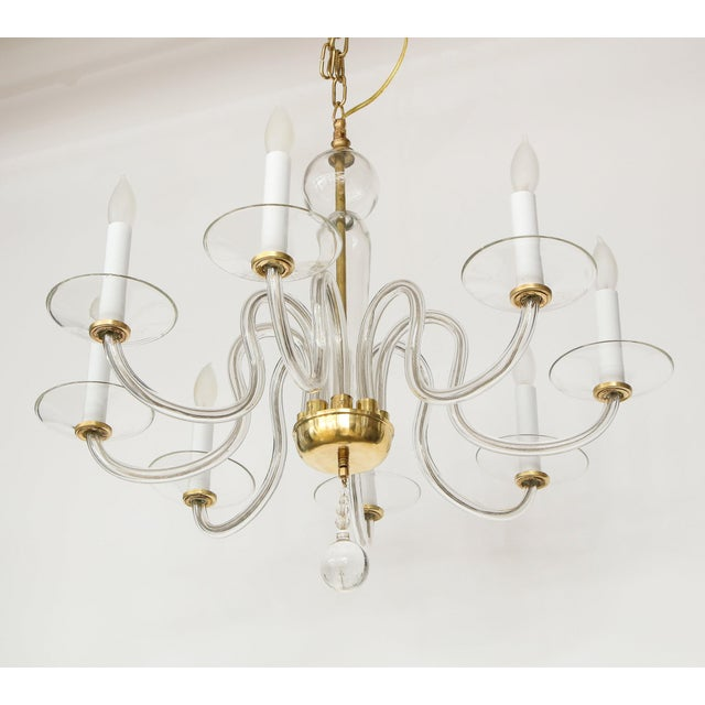 1960s Murano Glass Eight Arm Chandelier For Sale - Image 9 of 11