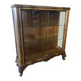 Image of 1920s Art Deco Walnut Display Cabinet For Sale