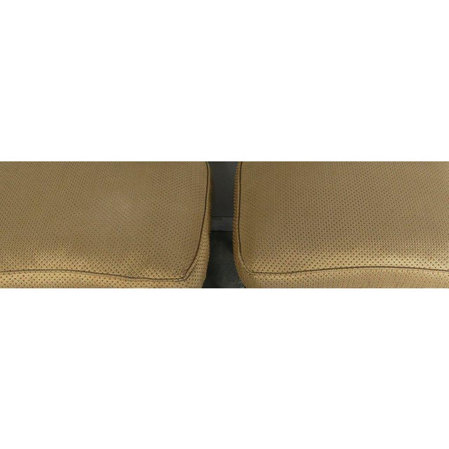 Brass French Louis XV Style Walnut Benches With Loose Cushions Circa 1900s, Pair For Sale - Image 7 of 9