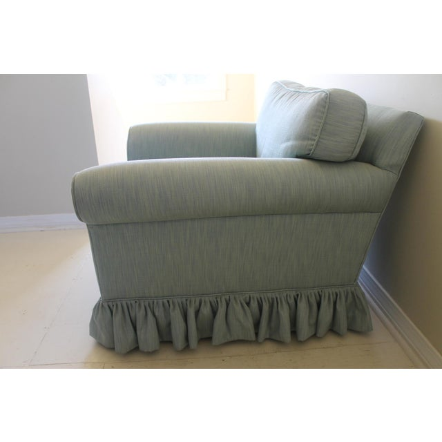 Shabby Chic Modern Oversized Upholstered Club Chair For Sale - Image 3 of 10