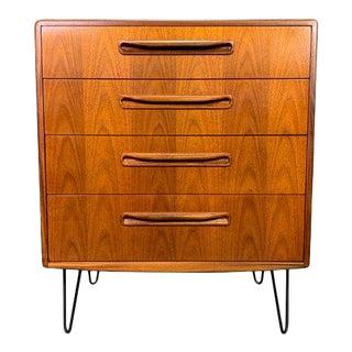 Vintage British Mid Century Modern Teak Lowboy Dresser by G Plan For Sale