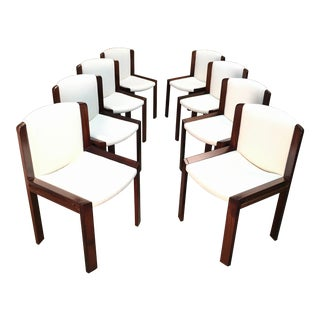 Vintage Mid Century Joe Colombo '300' Dining Chairs for Pozzi- Set of 8 For Sale