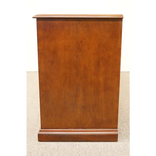 """Sligh Furniture Solid Cherry Chippendale 74"""" Double File Cabinet Credenza For Sale - Image 10 of 13"""