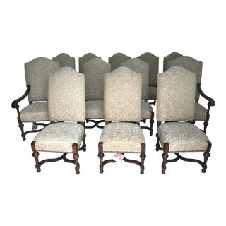 Drexel Heritage Italian Palazzo Dining Chairs - Set of 12 For Sale
