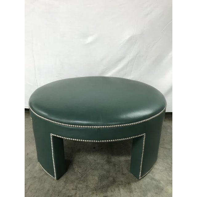 Traditional Century Furniture Durant Large Ottoman For Sale - Image 3 of 3