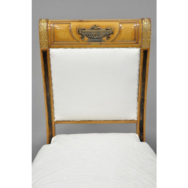 Empire Regency Neoclassical Style Saber Klismos Leg Accent Side Desk Chair For Sale - Image 3 of 13