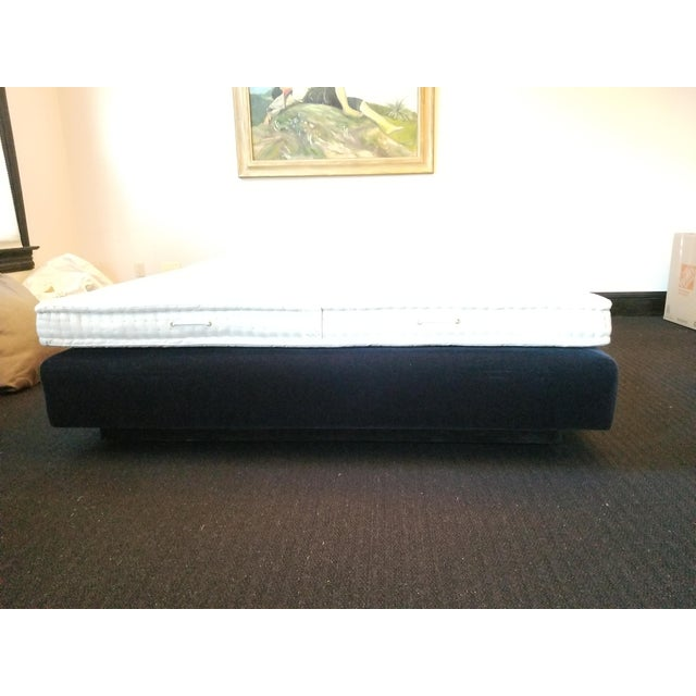 Textile Donghia Mohair King Bedframe on Recessed Base For Sale - Image 7 of 12