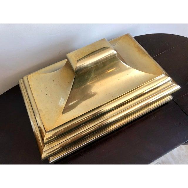 Chapman brass pagoda box. Copyright 1978.
