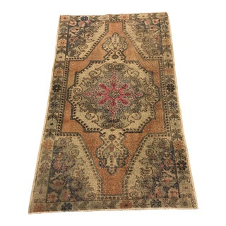 Oushak Handknotted Anatolian Tribal Rug- 4′3″ × 7′5″ For Sale