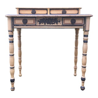 19th Century French Country Paint Decorated Dressing Table For Sale