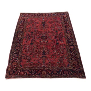 Antique Sarough Wool Rug For Sale