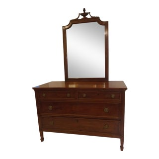 Late 19th Century Antique Neoclassical Style Vanity Dresser For Sale