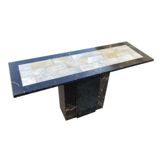 20th-Century Black Marble Console Table For Sale