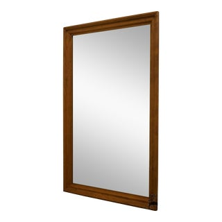 Ethan Allen Heirloom Nutmeg Wood Frame 35x55 Mirror For Sale