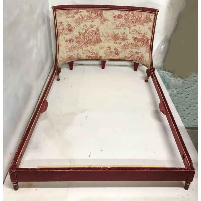 09806af8fdd0 Antique French Bed in Stroheim   Romann Toile For Sale - Image 9 ...