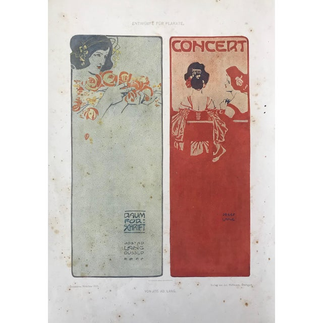 Date: 1906 Size: 9.75 x 13.75 inches About The Poster: We recently purchased a few plates from the German Dekorative...